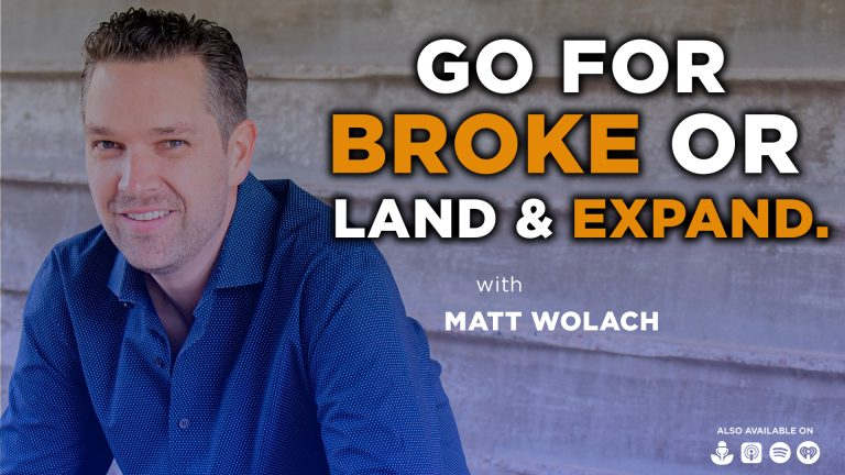 VIDEOCAST: Go for Broke or Land and Expand? – with Vijith Kumar