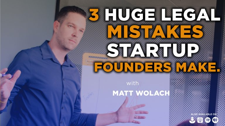VIDEOCAST: 3 Huge Legal Mistakes Startup Founders Make – with Assaf Ben-David