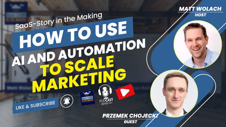 VIDEOCAST: How to Use AI and Automation to Scale Marketing – with Przemek Chojecki