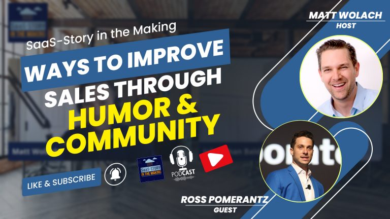 VIDEOCAST: Ways to Improve Sales through Humour and Community – with Ross Pomerantz