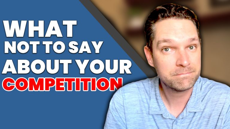 What Not To Say About Your Competition