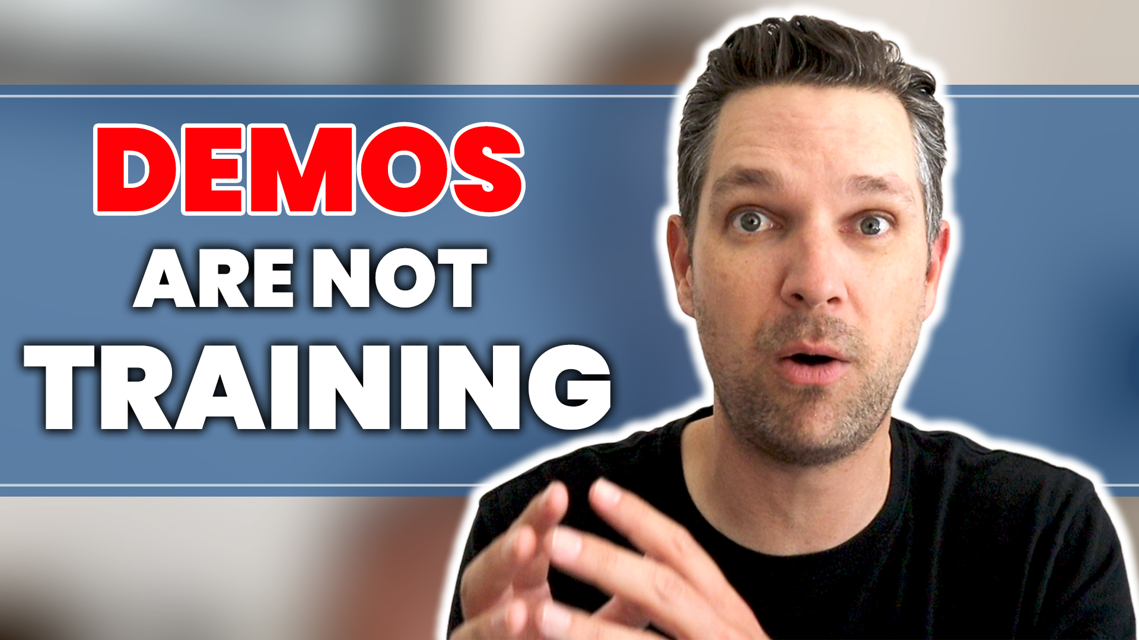 Demos are not training